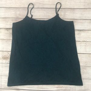 Loft green lace tank top